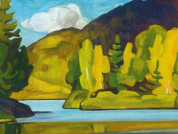 'Oxtongue Lake' painting by AJ Casson
